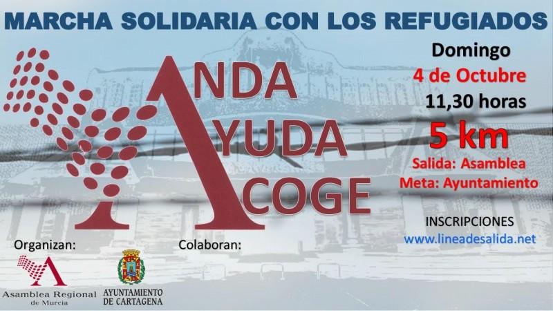 Marcha Solidaria Por Los Refugiados: Anda, Ayuda, Acoge