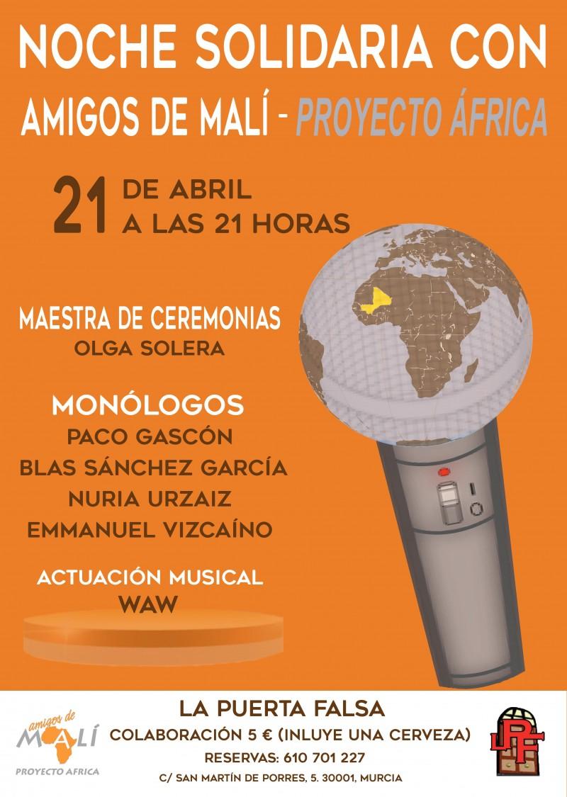 NOCHE SOLIDARIA CON AMIGOS DE MALI. 21 De Abril A Las 21 Horas.