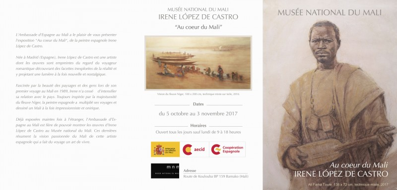 IRENE LÓPEZ DE CASTRO EN EL MUSEO NACIONAL DE MALI