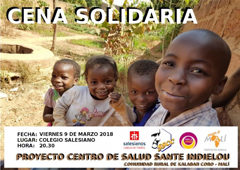 CENA SOLIDARIA VIERNES 9 DE MARZO DE 2018